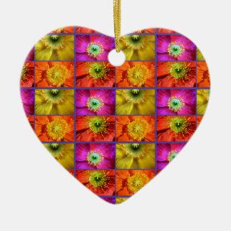 Ornamento De Cerâmica Amor da papoila