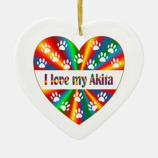Ornamento De Cerâmica Amor de Akita