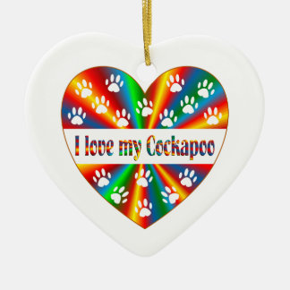 Ornamento De Cerâmica Amor de Cockapoo