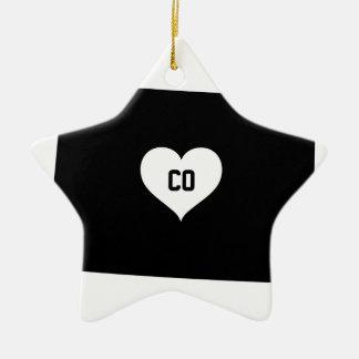 Ornamento De Cerâmica Amor de Colorado