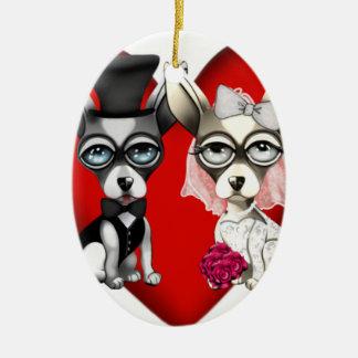 Ornamento De Cerâmica Amor de filhote de cachorro