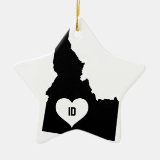 Ornamento De Cerâmica Amor de Idaho