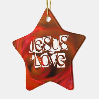 Ornamento De Cerâmica Amor de JESUS '