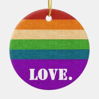 Ornamento De Cerâmica Amor de LGBT