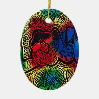 Ornamento De Cerâmica Amor do arco-íris