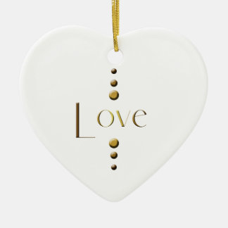 Ornamento De Cerâmica Amor do bloco do ouro de 3 pontos