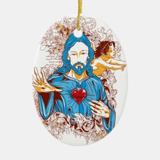 Ornamento De Cerâmica Amor do cristo do deus