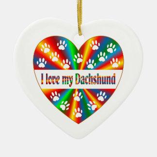 Ornamento De Cerâmica Amor do Dachshund