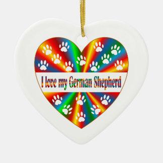 Ornamento De Cerâmica Amor do german shepherd