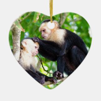 Ornamento De Cerâmica Amor do macaco