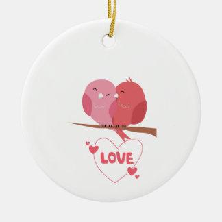 Ornamento De Cerâmica Amor do pássaro
