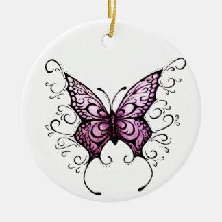Ornamento De Cerâmica amor do roxo da borboleta