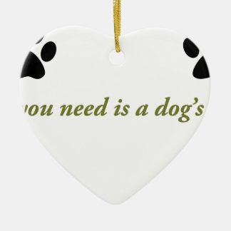 Ornamento De Cerâmica Amor dos cães