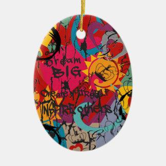 Ornamento De Cerâmica Amor dos grafites