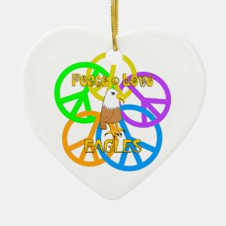 Ornamento De Cerâmica Amor Eagles da paz
