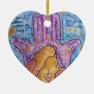 Ornamento De Cerâmica Amor Hamsa