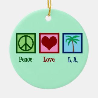 Ornamento De Cerâmica Amor L.A. Los Angeles da paz