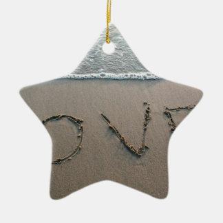 Ornamento De Cerâmica Amor na areia