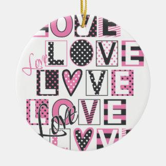 Ornamento De Cerâmica amor para o design do vintage do amor