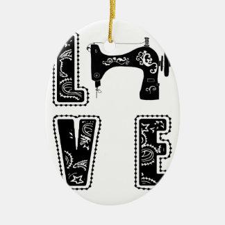Ornamento De Cerâmica amor para sewing
