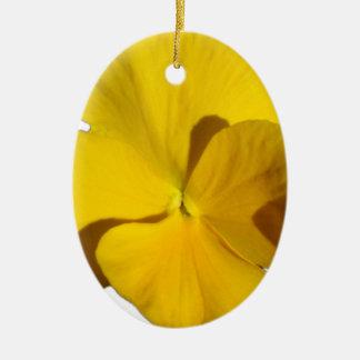 Ornamento De Cerâmica Amor perfeito amarelo 201711f