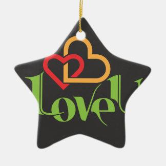 Ornamento De Cerâmica Amor u