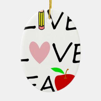 Ornamento De Cerâmica amor vivo teach2