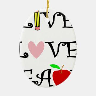Ornamento De Cerâmica amor vivo teach3