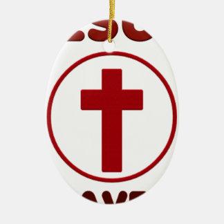 Ornamento De Cerâmica Amores de Jesus, religião Cross.pn da cristandade