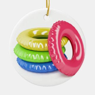 Ornamento De Cerâmica Anéis da natação
