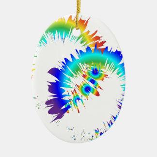 Ornamento De Cerâmica anéis do arco-íris
