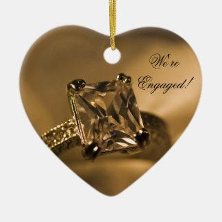 Ornamento De Cerâmica Anel de noivado de Diamante da princesa Corte