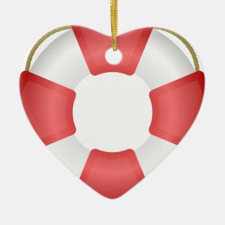Ornamento De Cerâmica Anel do Lifesaver