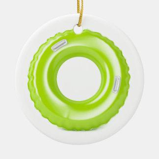 Ornamento De Cerâmica Anel verde da natação