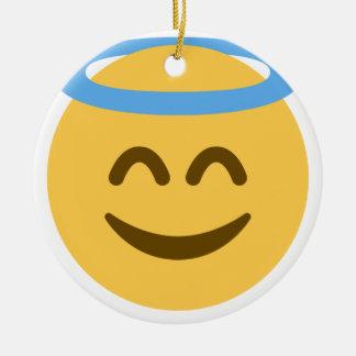 Ornamento De Cerâmica Angel Emoji