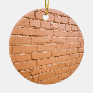 Ornamento De Cerâmica Ângulo de vista na parede de tijolo