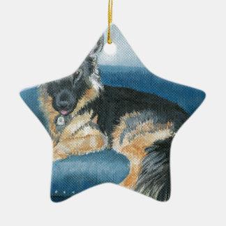 Ornamento De Cerâmica Angus o german shepherd