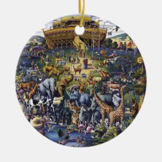 Ornamento De Cerâmica Animais da arca de Noahs