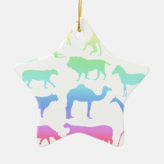 Ornamento De Cerâmica Animais selvagens