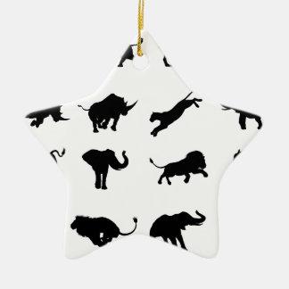 Ornamento De Cerâmica Animal africano do safari da silhueta
