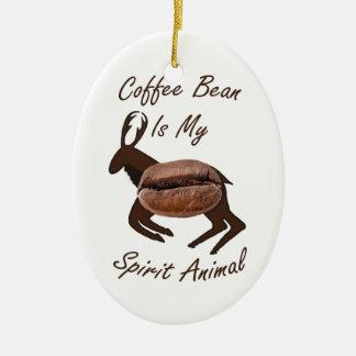 Ornamento De Cerâmica Animal do espírito do feijão de café