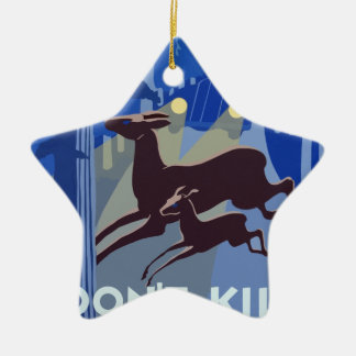 Ornamento De Cerâmica Animal dos animais selvagens do vintage