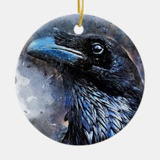 Ornamento De Cerâmica #animals do #bird do #crow da arte do corvo