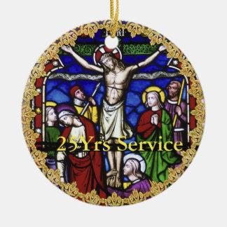 Ornamento De Cerâmica Aniversário da classificação do padre - ADICIONE a