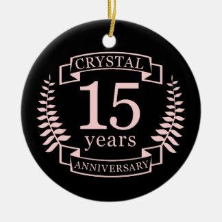 Ornamento De Cerâmica Aniversário de casamento de cristal 15 anos