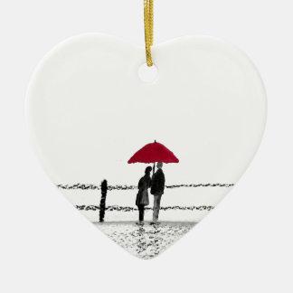 Ornamento De Cerâmica Aniversário do casal do amor