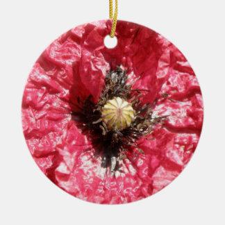 Ornamento De Cerâmica Aniversário feito sob encomenda macro da flor