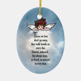 """Ornamento De Cerâmica Anjo """"amado assim """""""