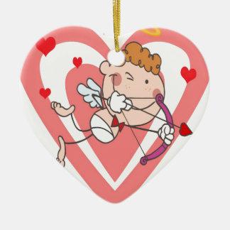 Ornamento De Cerâmica Anjo bonito e Loving do Cupido