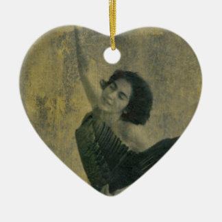 Ornamento De Cerâmica Anjo com harpa